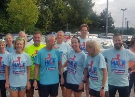 Club run supporting Swindon Half