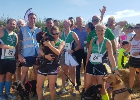 Striders with Rory Bremner at Hackpen